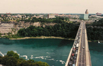 Aerial View of the Rainbow Bridge and the Niagara Gorge - Facing American side