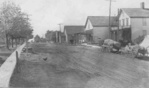 Main Street looking West showing the United Brethren Church in Stevensville