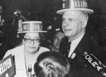 Judy LaMarsh and Paul Hellyer at the Federal Liberal Party leadership convention