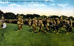 CEF [Canadian Expeditionary Forces] on route march. Leaving Queenston Heights for Niagara Camp