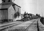 Train Passing a Building near Macklem Stove Foundry, Chippawa