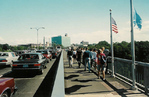 Traffic on the Rainbow Bridge - Facing American side