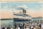 Steamer Cayuga landing at Queenstown - Toronto to Niagara Falls Route