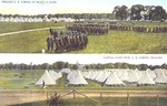 Drilling C. E. [Canadian Expeditionary] Forces at Niagara Camp. Partial Camp View C. E. Forces Niagara