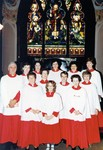 Holy Trinity Anglican Church Portage Road Chippawa, the choir at Christmas