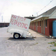 Artist Starving sign mounted on a trailer on the corner of Packard Avenue and 47th Street Niagara Falls New York