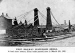 First Railway Suspension Bridge in Niagara Falls, Ontario