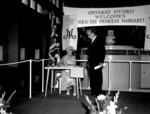 HRH Princess Margaret signing guest book at Sir Adam Beck Niagara Generating Station No. 2