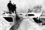 Blizzard of 77 - buried cars including a police car