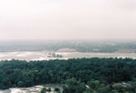 Aerial of the Upper Niagara River and Goat Island taken from the Flight of Angels Balloon Ride