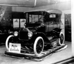Ford motor car on display at John Robinson's Fireproof Garage 571-573 River Road