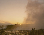Niagara Falls at the Brink of the Horseshoe Falls During Sunrise