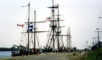Welland Ship Canal - tall ships at Port Colborne preparing to let public aboard