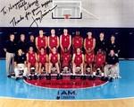 Jay Triano (back row, 2nd from right) Coach of Canada's Basketball Team Sydney Olympics 2000