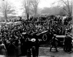 Crowd gathered to greet Edward Prince of Wales in Queen Victoria Park