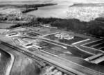 Lewiston-Queenston Bridge - aerial view Canadian terminal