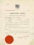 Undertaker's License