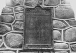 Close-up of the Inscription on the Battle of Fort George Cairn - Niagara-on-the-Lake