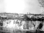 Fallsview Upper Suspension Bridge Niagara Falls - Clifton Hotel in Background