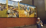 Welland mural depicting Welland Fair - Ruth Deacon in foreground
