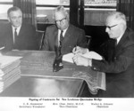 Lewiston-Queenston Bridge - signing of the contracts