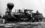 Locomotive Adam Brown which made the first trip from Grey & Bruce Railroad to Clifton
