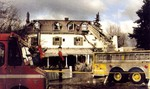 Oban Inn - the day after the fire