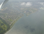 Aerial View of Chippawa, the Mouth of Chippawa Creek, and the Upper Niagara River