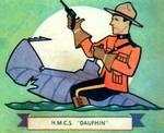 Crest of the Canadian corvette HMCS Dauphin