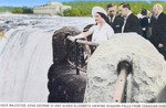 Their Majesties King George VI and Queen Elizabeth viewing Niagara Falls from Canadian Side