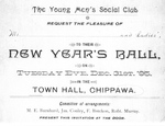 Invitation to The Young Men's Social Club New Year's Ball