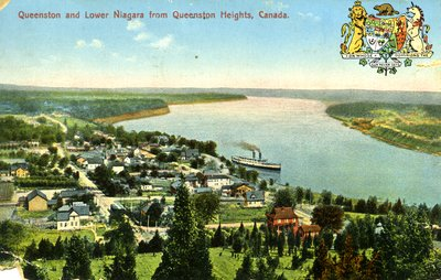 Queenston and Lower Niagara from Queenston Heights, Canada.