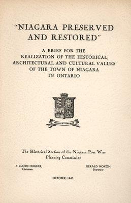 Niagara Preserved and Restored