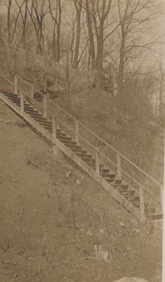 Steps to Queenston Dock, 1921.