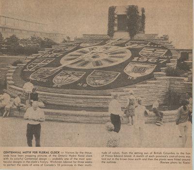 Centennial Motif for Floral Clock
