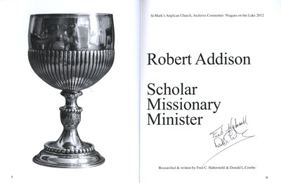 Robert Addison: Scholar, Missionary, Minister