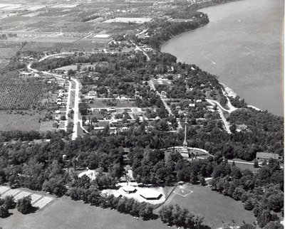 Aerial view of Queenston Village
