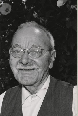 Charles Bowles at a retirement party of Miss Hazel Corman, a principal of in Laura Secord Memorial School in Queenston