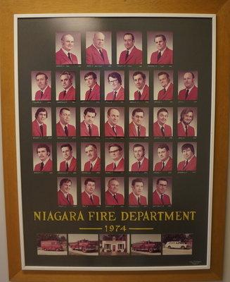 Members of Niagara Fire Department in 1974