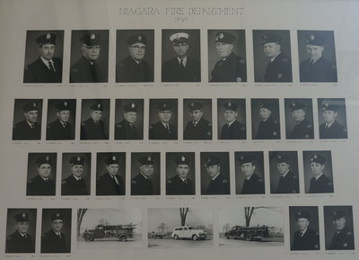 Members of Niagara Fire Department in 1959