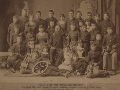 Indian boys and girls from Sault St. Marie Homes for Indian children