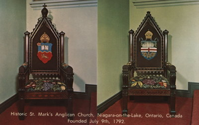 Rector's Chair & Bishop's Chair from St. Mark's sanctuary