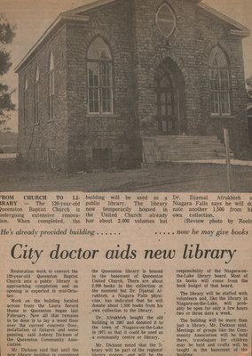 City doctor aids new library