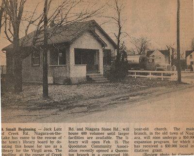Jack Lutz house as a temporary library for Virgil residents