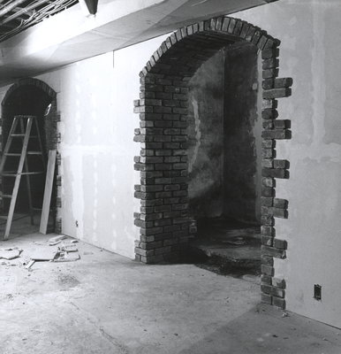 Expansion work at the Niagara-on-the-Lake Public Library - May 1973
