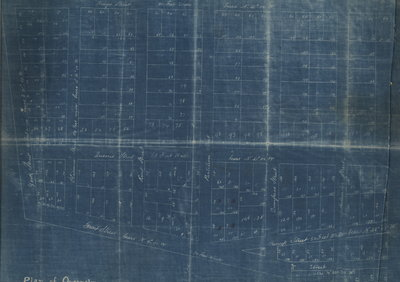 Plan of Queenston before 1920, sketch