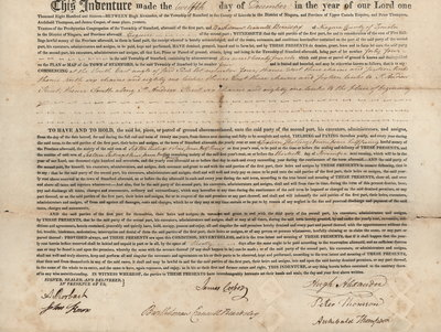 Lease Indenture between Trustees of the Presbyterian Congregation of the Township of Stamford and Bartholomew Crannell Beardsley.