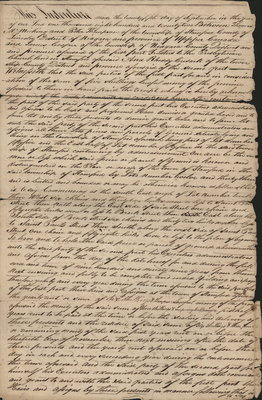 Lease Indenture between Thomas McMicking, Peter Thompson and James Cooper (Trustees of the Presbyterian Church in Stamford) and Rheddy Cusack of Township of Stamford.