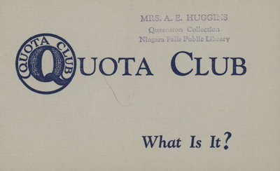 Quota Club. What Is It?