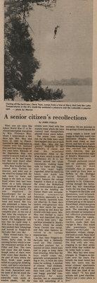 A senior citizen's recollections